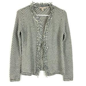 LOFT Outlet XS Cardigan Jacket Knit Fringe Trim